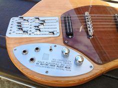New Complexity third bridge guitar: pickup behind the bridge for extra harmonic capabilities.