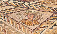 Villa Romana de la Tejada, Quintanilla de la Cueza - Mosaico Romano de las Cuatro Estaciones, Alegoría del Otoño