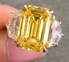 Yellow Diamond Rings, Bright Yellow, Bracelets, Jewelry, Fashion, Jewels, Moda, Jewlery, Jewerly
