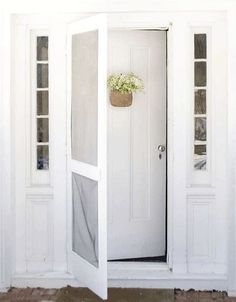 double door with mosquito net