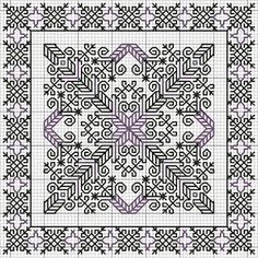 Fans de Biscornus biscornu pattern ~ I love this pattern!biscornu pattern ~ I love this pattern! Biscornu Cross Stitch, Blackwork Cross Stitch, Cross Stitch Charts, Cross Stitch Designs, Cross Stitching, Cross Stitch Patterns, Motifs Blackwork, Blackwork Embroidery, Cross Stitch Embroidery