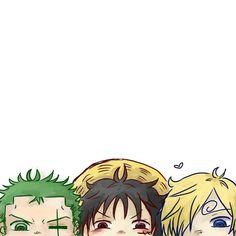 Roronoa Zoro, Luffy and Sanji