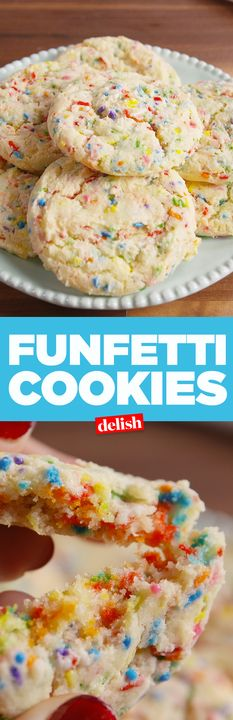 Funfetti Cookies give birthday cake a run for its money. Get the recipe from Delish.com.