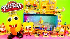 Play Doh Spongebob Squarepants Toys Super Unboxing Color Changing Car Pl...