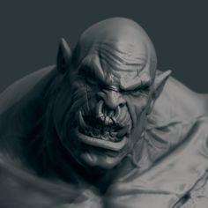 Orc Face (WIP), Iván Pérez Ayala on ArtStation at https://www.artstation.com/artwork/orc-face-wip