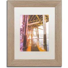 Trademark Fine Art 'Newport Pier 3' Canvas Art by Ariane Moshayedi, White Matte, Birch Frame, Size: 11 x 14, Multicolor
