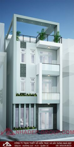 home Narrow House Designs, Modern Exterior House Designs, Unique House Design, House Front Design, 3 Storey House Design, Duplex Design, Bungalow House Design, Indian House Plans, Model House Plan