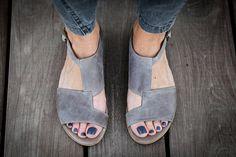 10% Sale, Uma, Grey Leather Sandals, Grey Sandals, Flat Summer Shoes, Asymmetric Shoes
