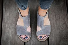 Digging these hard - 10 Sale Uma Grey Leather Sandals Grey Sandals Flat by abramey