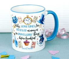 Alice In Wonderland Mug Special Edition, Alice Through The Looking Glass, Mad Hatters Tea Party, Cup, UK by missbohemia on Etsy https://www.etsy.com/ie/listing/398443519/alice-in-wonderland-mug-special-edition