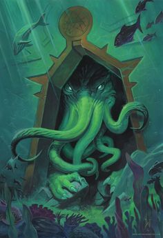 Cthulhu: Call of the Deep - my latest painitng, inspired by the works of H. P. Lovecraft