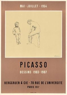 Original Künstler Plakat Picasso Original Artist Poster Picasso Affiche original Picasso title Oeuvres de 1900 a 1914 technology Color lithograph Pablo Picasso, Picasso Drawing, Picasso Art, Van Gogh Exhibition, Art Exhibition Posters, Jewellery Exhibition, Museum Exhibition, Poster Design Layout, Typography Poster Design
