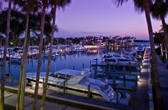 Deep-water marina. Miami's private island paradise at Fisher Island Hotel and Resort. By Hotelied.