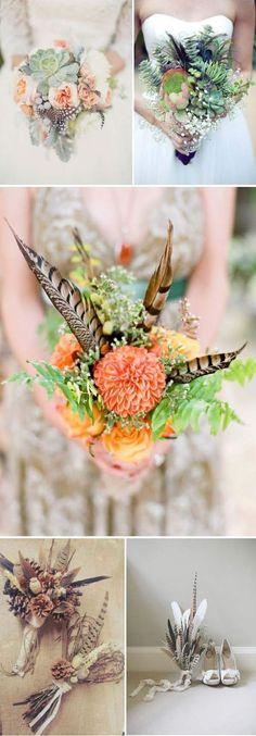 liebelein-will, Hochzeitsblog - Blog, Hochzeit, Federn - Brautstrauß