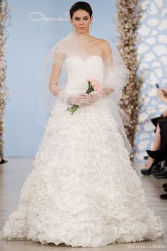 Oscar de la Renta Bridal 2014 Wedding Dresses  Keywords: #weddings #jevelweddingplanning Follow Us: www.jevelweddingplanning.com  www.facebook.com/jevelweddingplanning/