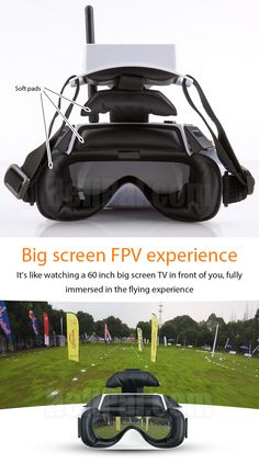 Fully immersed in the flying experience - presenting the big screen Walkera Goggle 4 It's really exciting with First Person View experience, it's like watching a big TV few feet away from you in a dark room, which gives you a cock-pit like feeling. Drones, Drone Quadcopter, Pilot, New Drone, Drone Diy, Big Screen Tv, Drone Technology, Technology Gadgets, Viajes