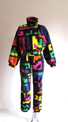 Vintage Women's 80s 90s  One Piece Ski Suit by VTGCollectionShop