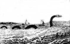 This sea serpent was sighted off Cape Ann, in New England, in the early What were people seeing? Weird Creatures, Mythical Creatures, Sea Creatures, Mysterious Universe, Sea Serpent, Loch Ness Monster, Greatest Mysteries, Cryptozoology, Red Art