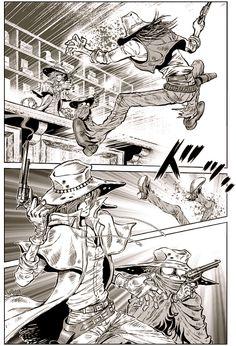 Gun Frontier ~ Harlock & Tochirô Seishun no Tabi (avec Yuzuru Shimazaki) - Triple 9 Triple 9, Akita, Comic Books Art, Comic Art, Manga Art, Manga Anime, Space Pirate Captain Harlock, Super Robot, Jolly Roger