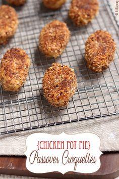 chicken pot pie passover croquettes