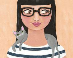 Modern Cat Lady by Ryan Conners, KilkennyCatArt