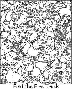 Free Colouring Page German Language Learning, Spanish Language, French Language, Highlights Hidden Pictures, Chinchilla Cute, Hidden Picture Puzzles, Coding For Kids, Maths Puzzles, Teaching Kids