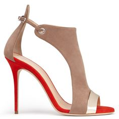 Giuseppe Zanoti - CAITIE - BEIGE-RED Open Toe Sandal Pump - Sandals