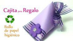 Manualidades: CAJA para REGALO reciclando un rollo de papel higiénico - ...