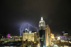 So I was in Vegas recently. Took hundreds of shots trying to get this from my hotel view, definitely paid off