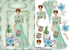 Bouquet for the Lady Decoupage on Craftsuprint designed by Sue Way ~ Lily~Pickle…