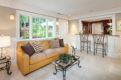 Traditional Living Room with limestone tile floors & Crown molding in Palo Alto, CA   Zillow Digs