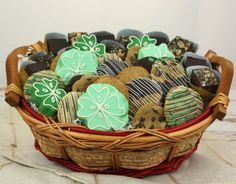 Buy St Patrick's Day Goodie Basket from Ingallina's Box Lunch; it comes with shortbread shamrocks, double chocolate mint cookies, assorted two-bite sized cookies and brownies. Call (206) 766-9400 for Order Today.
