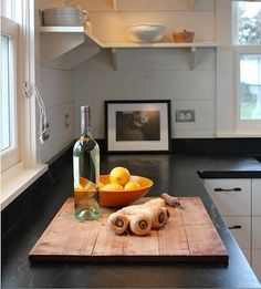 Green mountain soapstone countertop in Maine cottage by Sheila Narusawa | Remodelista