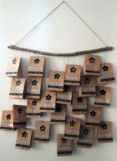 fait maison - Haus Dekoration weihnachten - New Ideas Ramadan Gifts, Xmas Gifts, Diy Gifts, Countdown Calendar, Diy Calendar, Christmas Time, Christmas Crafts, Holiday, Calendrier Diy