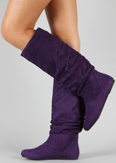 Try mixin' it up with some color-tastic boots like these purple ones. The day feels a little brighter already.