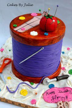 Spool Of Thread Cake  This is sooooo cool! A cake!
