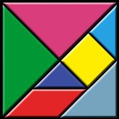 Jai acheté 8 lots de tangram de couleurs différentes. Voici donc les fiches de réalisation qui...