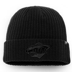 sports shoes a9d56 95649 Men s Minnesota Wild Fanatics Branded Black Team Haze Core Cuffed Knit Hat,  Sale   13.49 - You Save   4.50