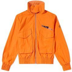 Thames Reversible Adventurous Jacket ($300) ❤ liked on Polyvore featuring outerwear, jackets, reversible jacket, cotton jacket, double face jacket, orange jacket and zip jacket