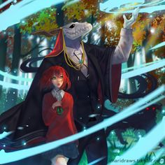 the ancient magus bride Manga Anime, Anime Art, Girls Characters, Anime Characters, Sailor Moon, Elias Ainsworth, Chise Hatori, Otaku, Anime Couples