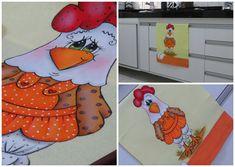 Pintura em tecido - Galinha FIFI - parte 2