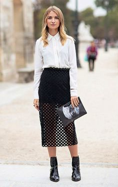 6 Fool-Proof Ways To Wear Mesh: #3. An overlay for miniskirts