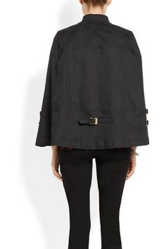 Givenchy - Washed Cotton-blend Canvas Cape - Black - FR44