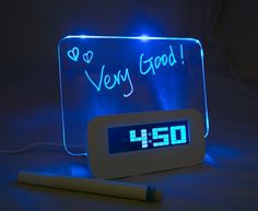 5 LED Message Board with Highlighter Digital Alarm Clock with 4 Port USB Hub Led Alarm Clock, Digital Alarm Clock, Digital Table Clock, Presents For Girls, Gifts For Teens, Wish List For Teens, Tween Gifts, Xmas Presents, Kids Gifts