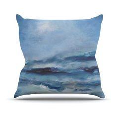 Kess InHouse Iris Lehnhardt Rough Sea Ocean Indoor/Outdoor Throw Pillow - IL2022AOP02