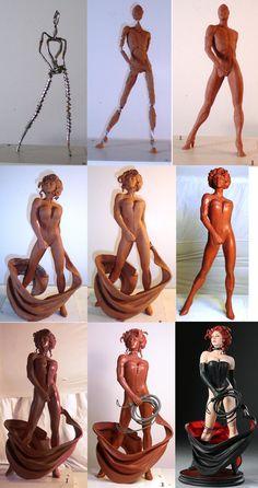 Black Queen Process by *TKMillerSculpt on deviantART