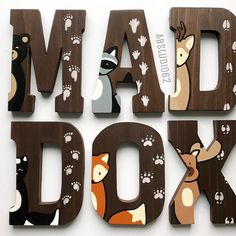 Wooden Letters for Nursery Woodland Nursery Decor Hand Painted Wood Letters Woodland Creatures Free Standing Letters Nursery Fox Deer 2019 Wooden Letters for Nursery Woodland Nursery Decor Hand Baby Girl Nursery Themes, Baby Boy Rooms, Baby Room Decor, Nursery Ideas, Girl Nurseries, Wooden Letters For Nursery, Painting Wooden Letters, Nursery Signs, Nursery Wall Art