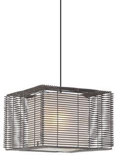 Hive Kai Square Outdoor Pendant Lamp Modern Outdoor Lighting