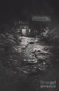 Farmhouse Photograph - Scary Old Abandoned Hut In Creepy Deserted Forest by Jorgo Photography - Wall Art Gallery