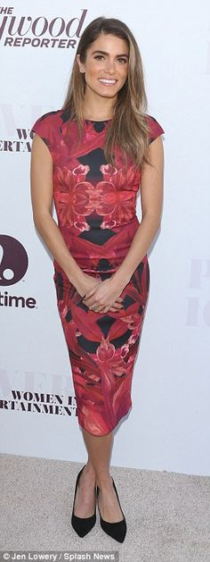 Nail it like Nikki in a red floral Ted Baker dress, £159